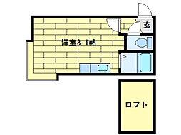 北海道札幌市豊平区平岸五条13丁目の賃貸アパートの間取り