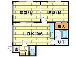 コーポラス北澤[1階]の間取り