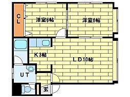 ソシアルトミイNo.60[3階]の間取り