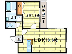 ワンダーハイム澄川[2階]の間取り