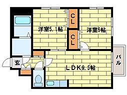 プリマべーラ澄川(澄川1-4)[3階]の間取り