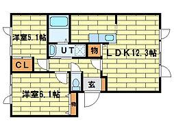 プロムナードI[1階]の間取り