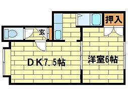 セゾンド澄川[1階]の間取り