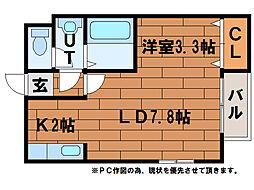 北海道札幌市豊平区平岸三条15丁目の賃貸マンションの間取り