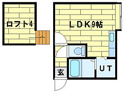 セントラルアベニュー[3階]の間取り