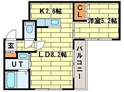 カーサルネス[2階]の間取り