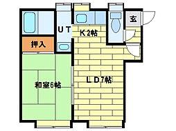 藤花ハイツ[2階]の間取り