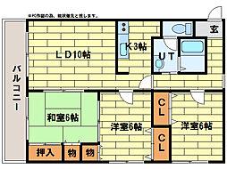 サンライト西岡I[1階]の間取り