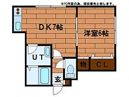 シャネル澄川(澄川4-6)[1階]の間取り
