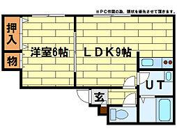 シャネル澄川(澄川4-6)[2階]の間取り