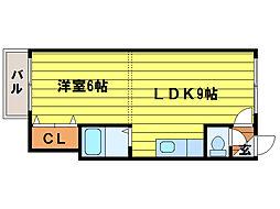 カサデューク澄川47号棟[1階]の間取り