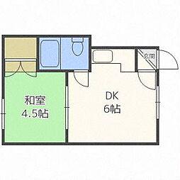 第2近マンション[2階]の間取り