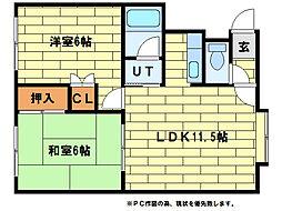 久美マンション[1階]の間取り