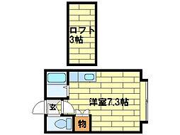 JPコート南平岸C[2階]の間取り