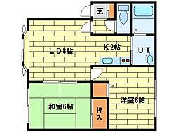 MDハイム福住[1階]の間取り