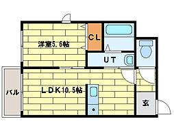 フォレスタ[4階]の間取り