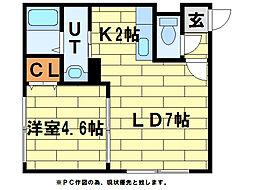 グランドサクセス澄川[1階]の間取り