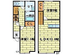 [テラスハウス] 北海道札幌市豊平区平岸四条8丁目 の賃貸【/】の間取り