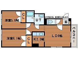 リバーコート113[1階]の間取り