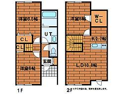 [テラスハウス] 北海道札幌市南区石山一条7丁目 の賃貸【/】の間取り