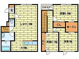 [テラスハウス] 北海道札幌市南区澄川四条7丁目 の賃貸【/】の間取り
