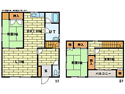 [一戸建] 北海道札幌市豊平区西岡四条13丁目 の賃貸【/】の間取り