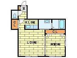 レジナス澄川[3階]の間取り