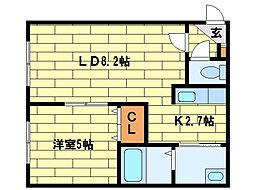 North Points澄川[3階]の間取り
