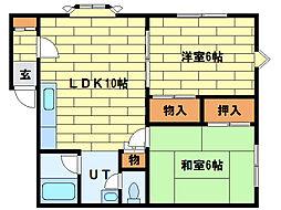 クレールコート[1階]の間取り
