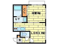 北海道札幌市南区澄川四条5丁目の賃貸マンションの間取り