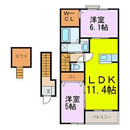 ラディアII[2階]の間取り