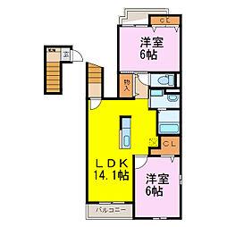 キャッスルバレー加須[2階]の間取り