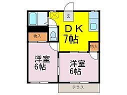 エス アパートメント[1階]の間取り