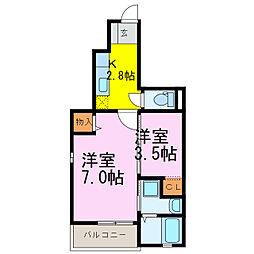 Confort K[1階]の間取り