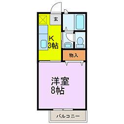 レイクヒル 壱番館[2階]の間取り