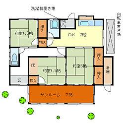 [一戸建] 三重県津市城山1丁目 の賃貸【/】の間取り