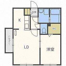 北海道札幌市中央区南二十一条西8丁目の賃貸マンションの間取り