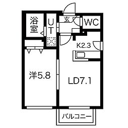ヴィレッタS14[3階]の間取り