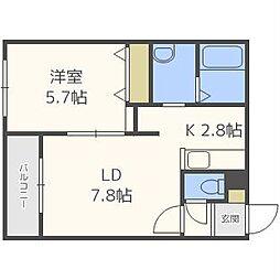 LIGHTNING BLD[4階]の間取り