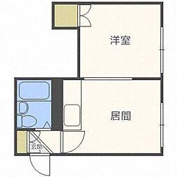 レジデンス148[3階]の間取り