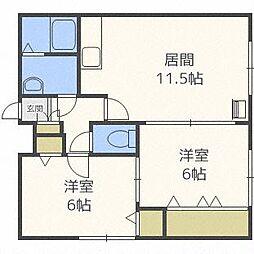 リバティS116[4階]の間取り