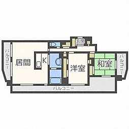 三和・マンション[10階]の間取り