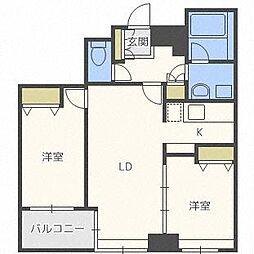 ラフィネタワー札幌南3条[22階]の間取り
