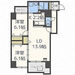 スクエアマンション6.14II[8階]の間取り