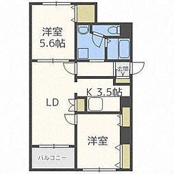 Palazzo南円山[5階]の間取り