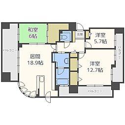 グランファーレ札幌幌西レジデンス[4階]の間取り