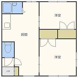 北海道札幌市北区新川五条2丁目の賃貸アパートの間取り