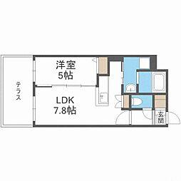 CITY RESIDENCE幌平橋 1階1LDKの間取り
