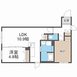 CITY RESIDENCE幌平橋 4階1SLDKの間取り