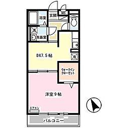兵庫県姫路市飯田の賃貸アパートの間取り